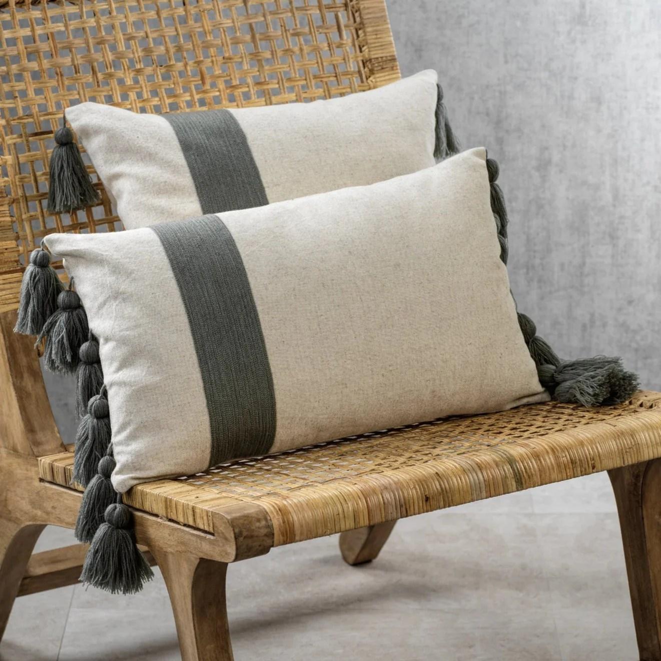 polignano embroidered throw pillow w