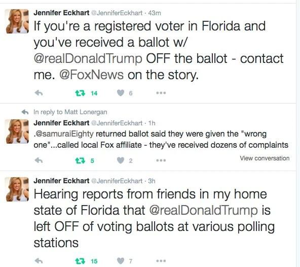 BREAKING: Donald Trump's Name Left Off Florida Ballots