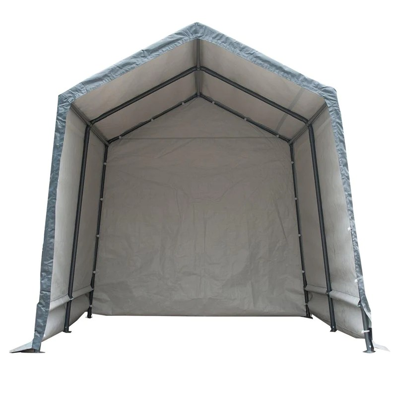 7 x 12 feet storage shelter outdoor shed heavy duty canopy grey