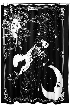 goth shower curtains towels