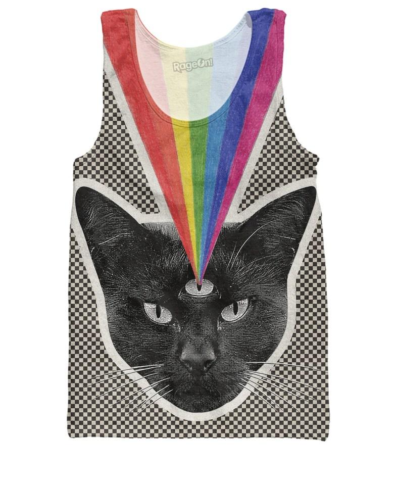Checker Black Cat Tank Top