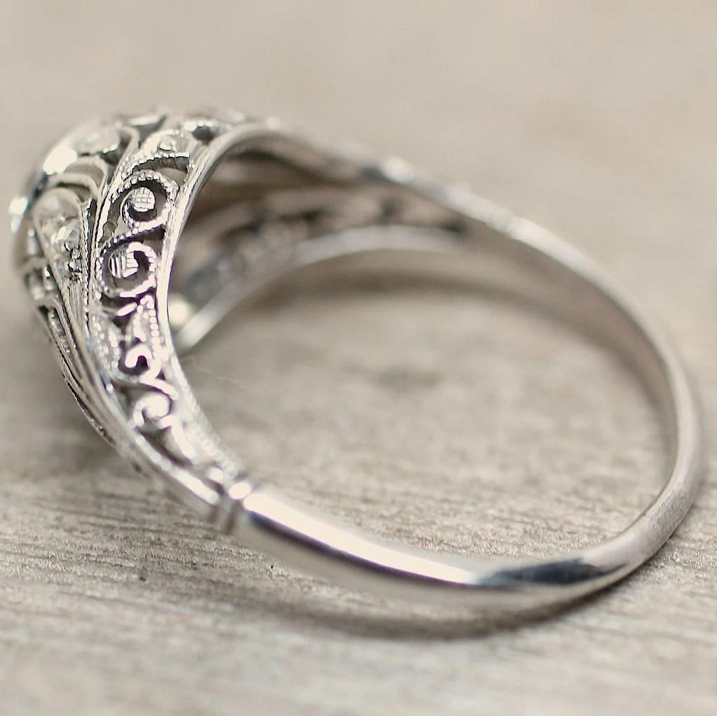 Circa 1900 18K Diamond Engagement Ring Pippin Vintage
