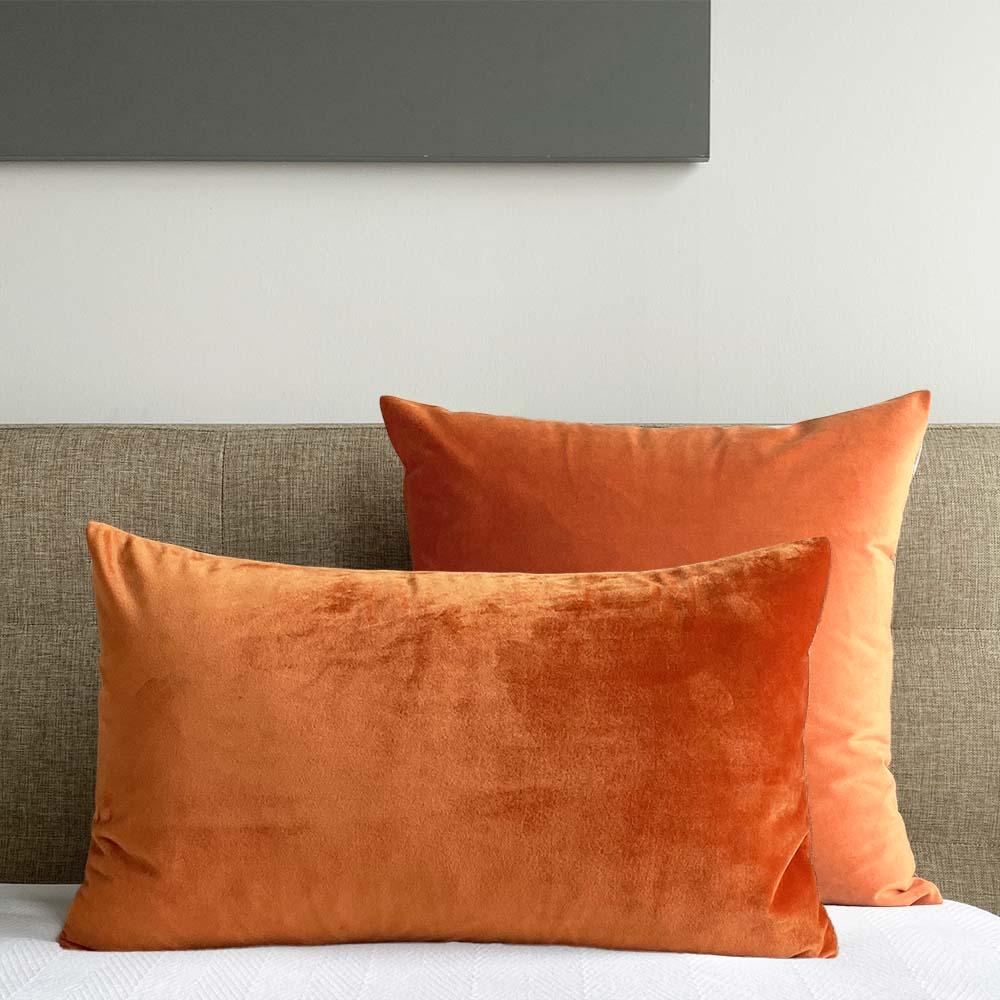 velvet pillow cover copper