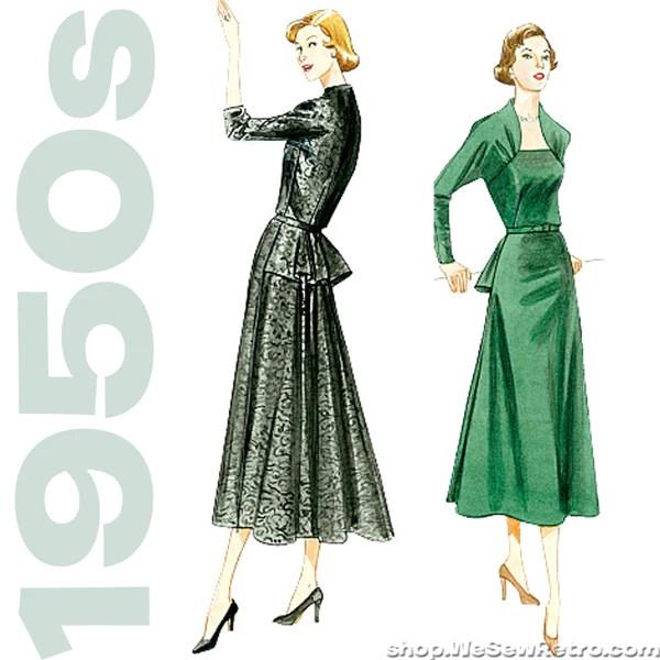 Image result for vintage vogue dress pattern