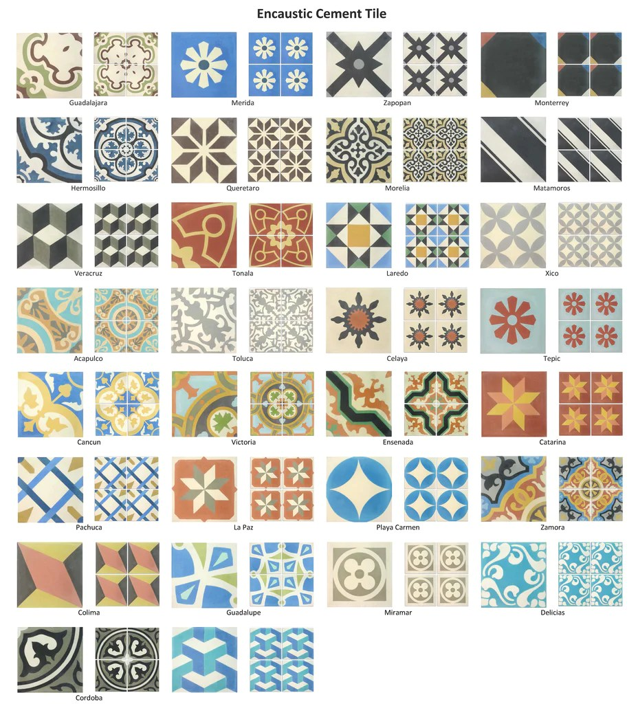 what are cement tiles mexican tile