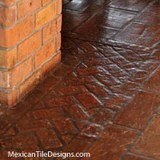Mexican Tile for Indoor Flooring     Mexican Tile Designs Decorative floor trim adds interest and flair to any tile floor  Add a  decorative edge  division  or centerpiece to any Saltillo floor with  decorative