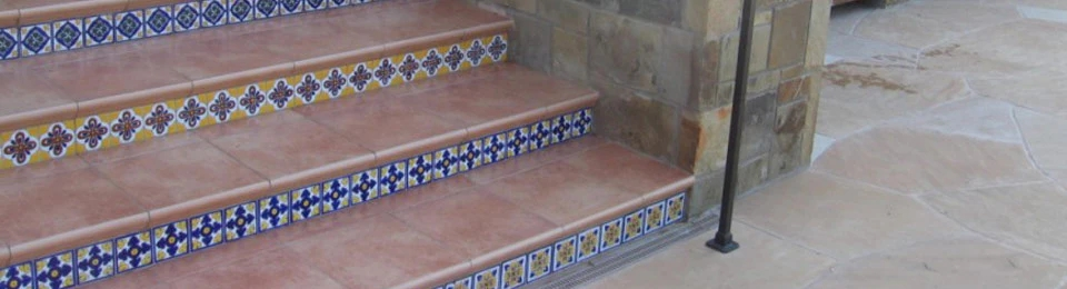 Mexican Tile Staircases – Mexican Tile Designs | Stairs Tiles Design For Home | Readymade Staircase | Duplex House | Style Kerala | Railing | Porcelain