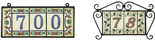 mexican tile house numbers and letters