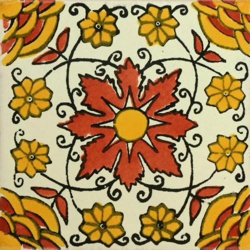 Traditional Mexican Tile Rosa Del Desierto Mexican