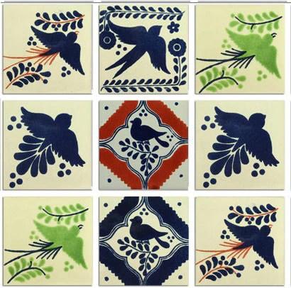 Birds Mexican Talavera Tile Collection Mexican Tile Designs