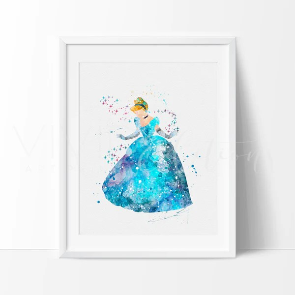 Cinderella Disney Princess Nursery Art Print Wall Decor
