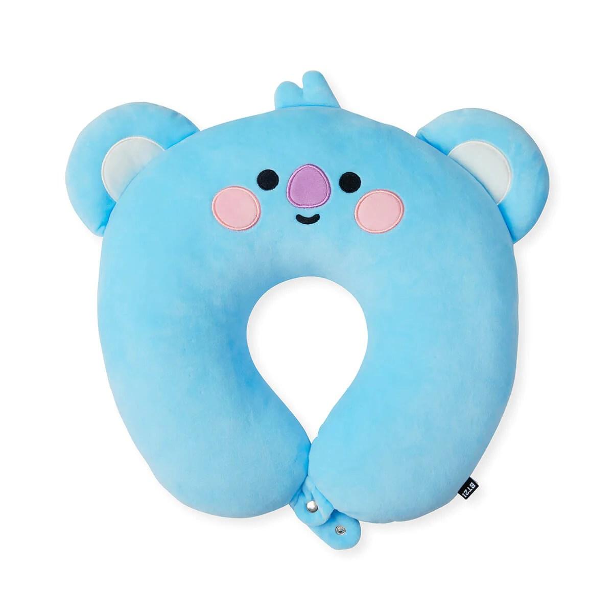 bt21 koya baby travel neck pillow w snap fastener