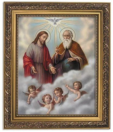 Holy Trinity God The Father Son And Holy Spirit Print In