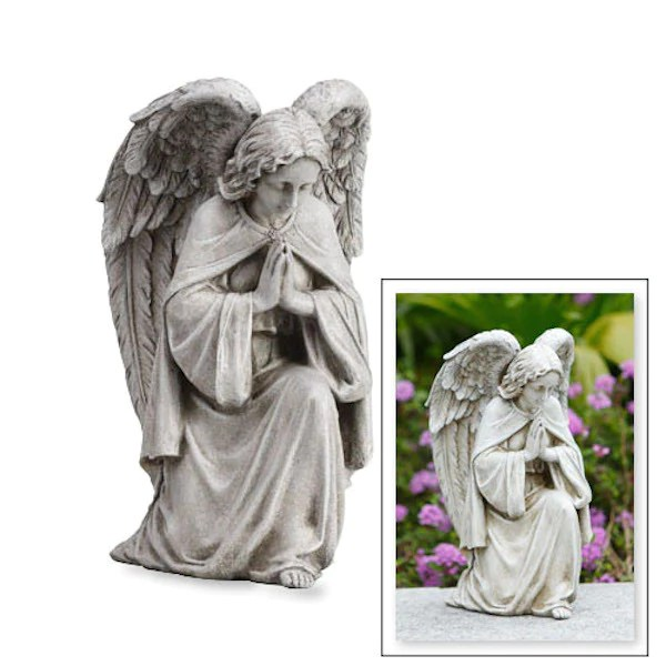 Angel Praying Memorial Garden Statue For Home Or Grave