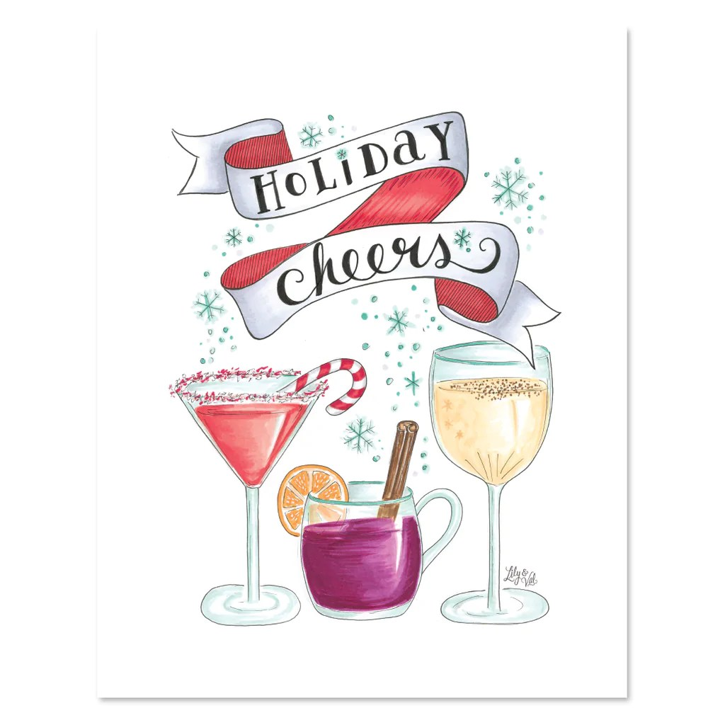 Lily Amp Val Holiday Cheers Print Christmas Illustrated