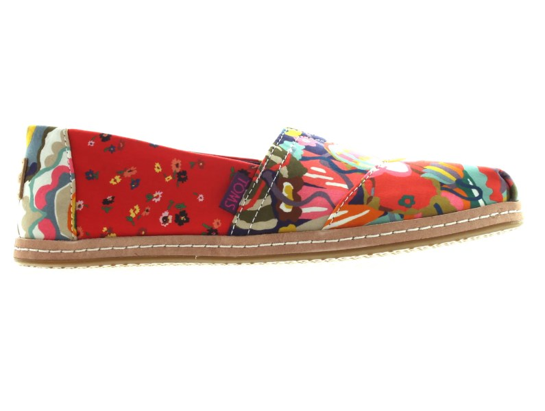 Liberty TOMS in a bright floral pattern mix