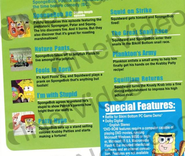 Spongebob Squarepants Spongebob Goes Prehistoric Dvd Movie