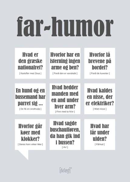 Faren Plakat Plakater Med Tidens Sjoveste Danske Citater