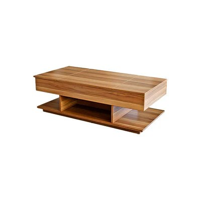 lift up top rectangular storage coffee laptop table with walnut fini bonbon furniture