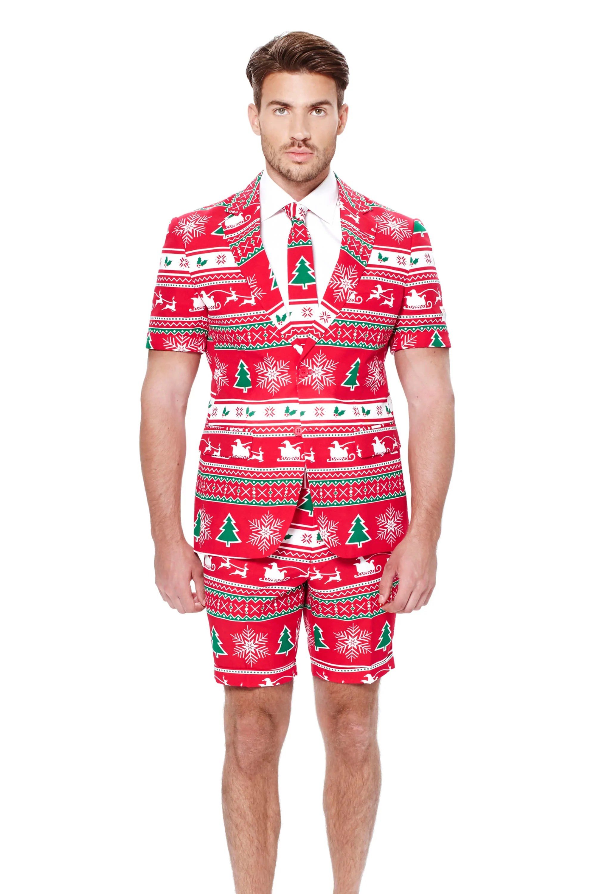 Red Ugly Christmas Sweater Suit The Soiree Of Sin