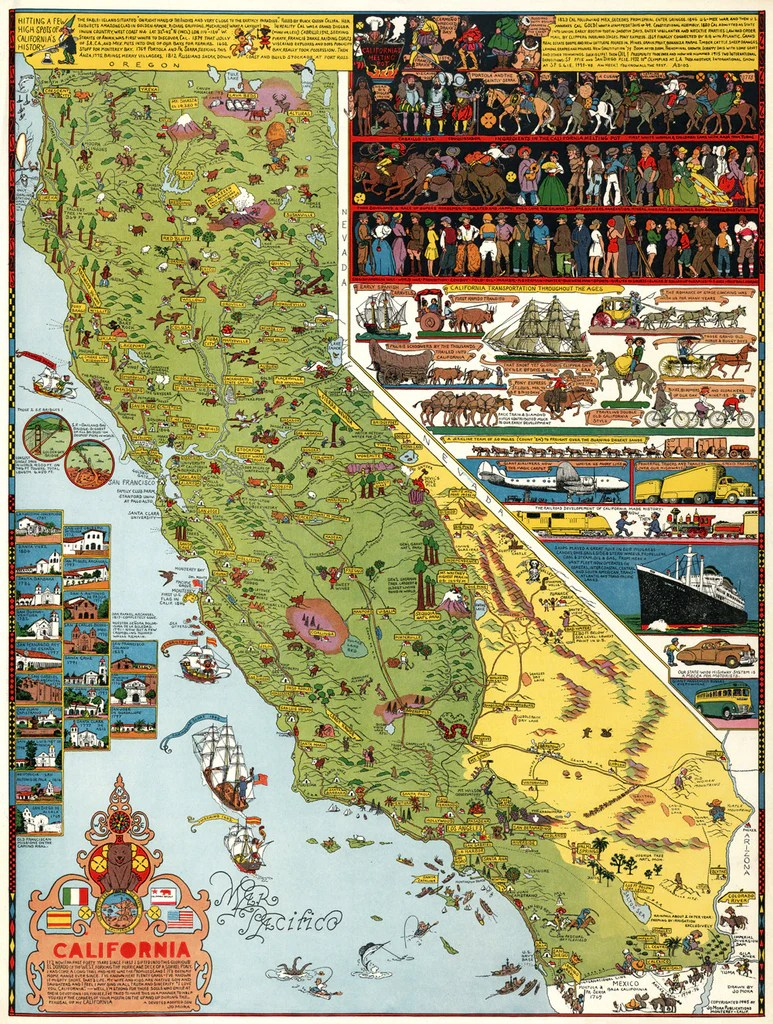California Illustrated Pictorial Map by Jo Mora   1945   I Love Maps California Illustrated Pictorial Map by Jo Mora   1945