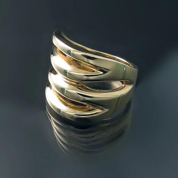 Chunky Gold Statement Ring Zoran Designs Jewelry