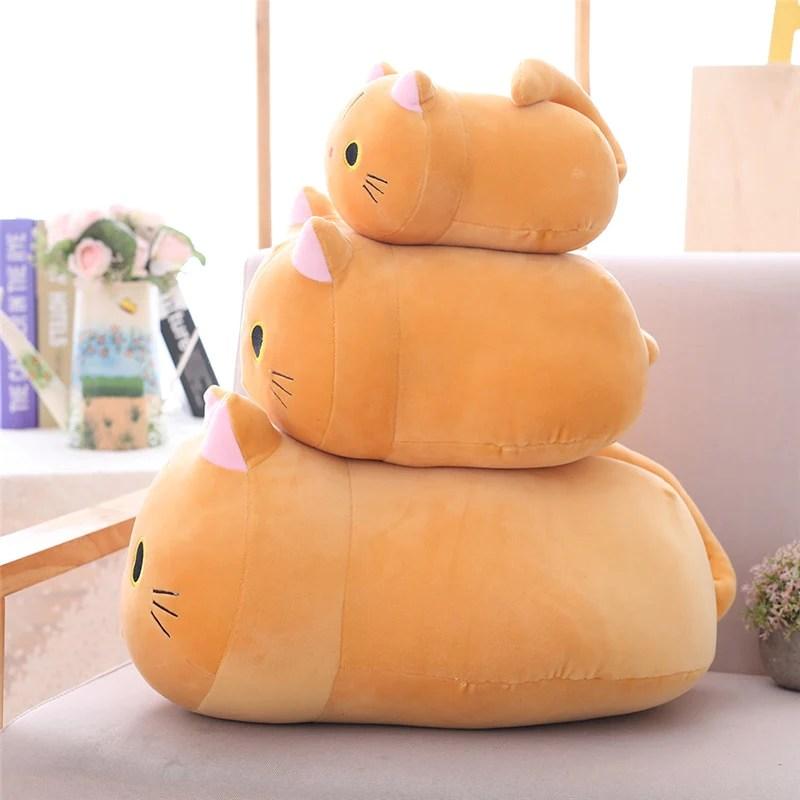 cute cat plush pillow i love kawaii