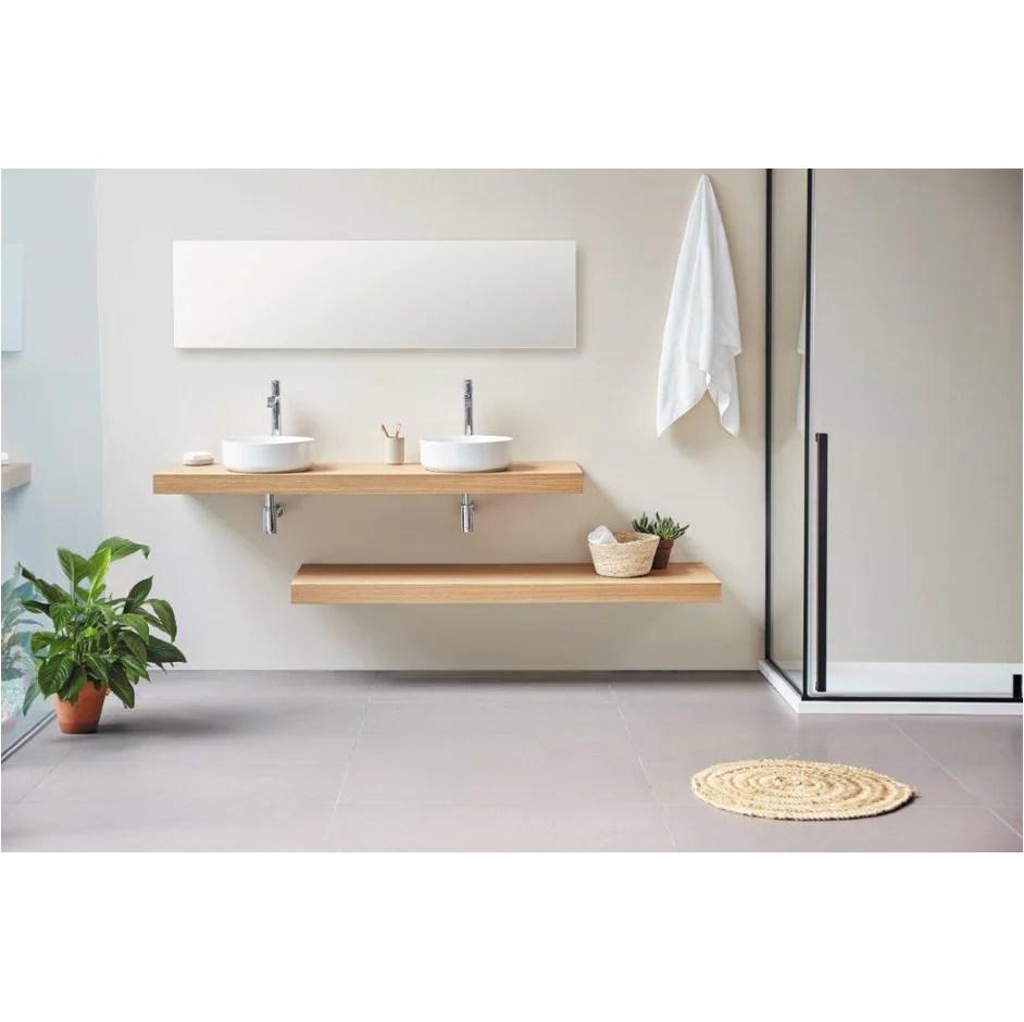 Plan Vasque Suspendu Zero Pour Salle De Bain Design Chene Le Monde Du Bain