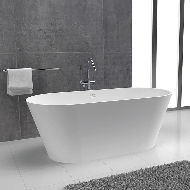 baignoire ilot design en solid surface ovale modern
