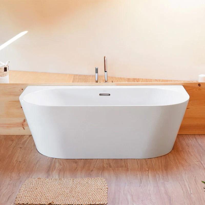 baignoire design ovale torino muro blanche