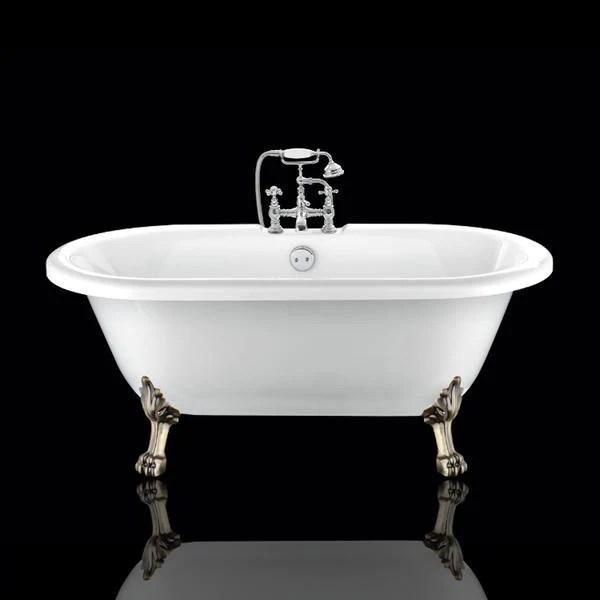 baignoire ancienne chelsea blanche le monde du bain pieds de lion bronze jaune vieilli