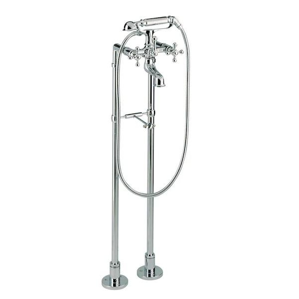 robinet melangeur retro sur pieds cisal arcana pour baignoire ancienne