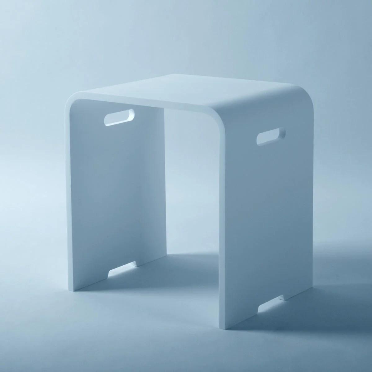 Tabouret Bain Douche Design En Solid Surface Sitto Le Monde Du Bain