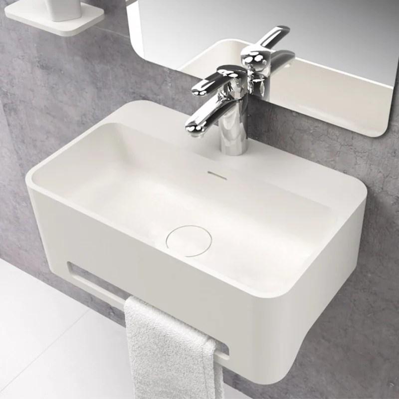 lavabo suspendu design cork 50 cm en