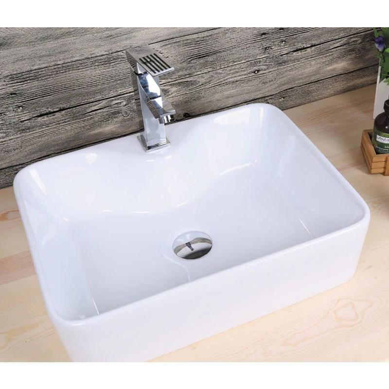 Vasque A Poser En Ceramique Lecce Blanc 48 X 38 Cm Le Monde Du Bain
