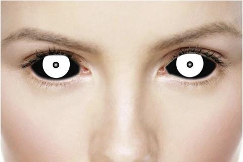 Freak Black White Sclera Contact Lenses 22mm Sclera Contact Lenses