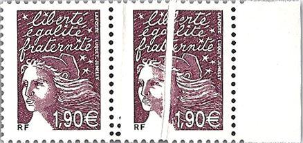 Philatélie 50 pli accordéon