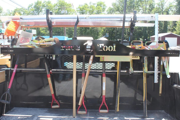 quick e mounted tool rack this is a
