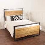 Industrial Bed Handmade Wooden Steel Double Single Frame King Reclaime Shabby Bear Cottage