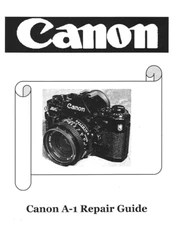 Free Canon A-1 Service / Repair Manual