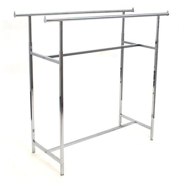 double rail clothing rack chrome 2 ctns