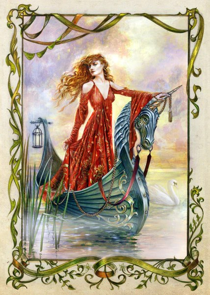 Lady Of The Mists Card By Briar Medieval Fantasy King Arthur Greeting Lasa Fine Jewelry And