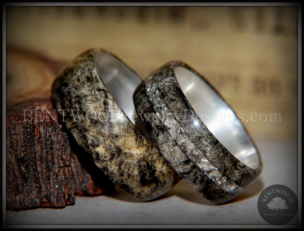 Bentwood Rings Set Ohio Buckeye Burl On Silver Core