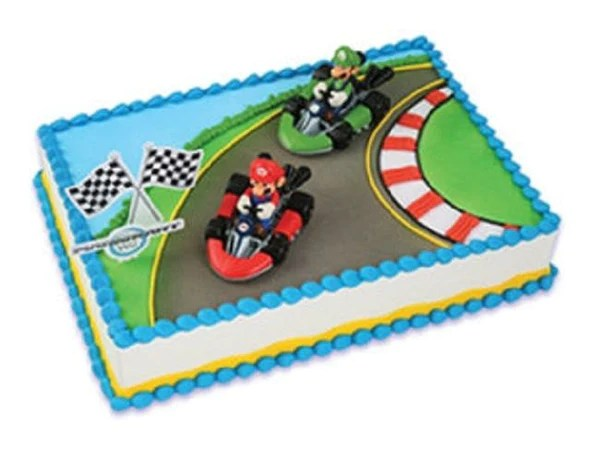 Super Mario Brothers Racing Cake Kit Christy Maries