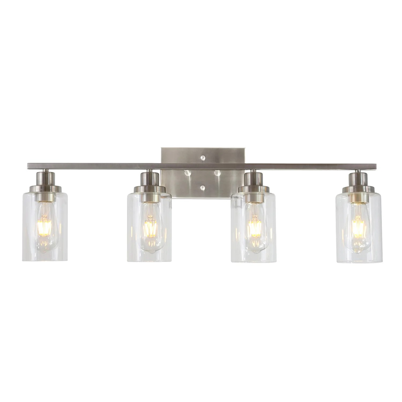 bonlicht bathroom light fixtures brushed nickel 4 heads modern wall lights
