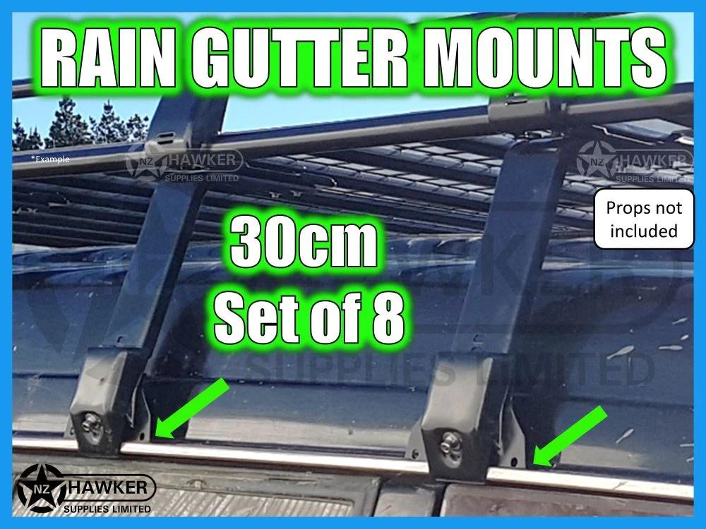 universal rain gutter 30cm set of 8 03