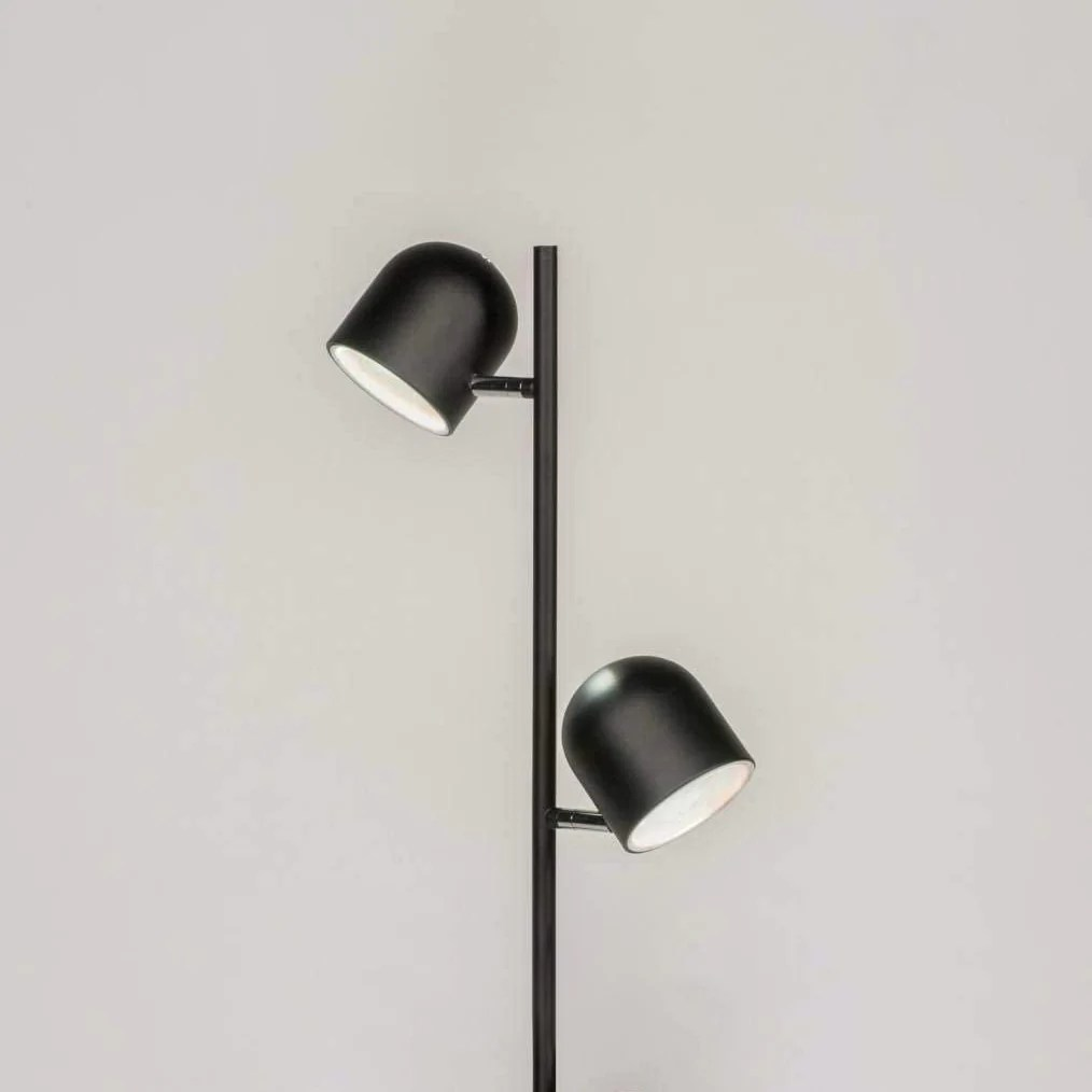 lampadaire industriel noir 2 spots