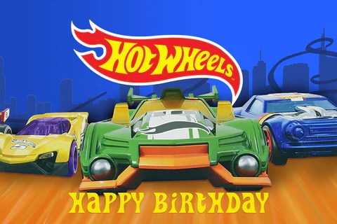 Hot Wheels Non Personalised Backdrop The Party Box Company Boxes Of Awesome