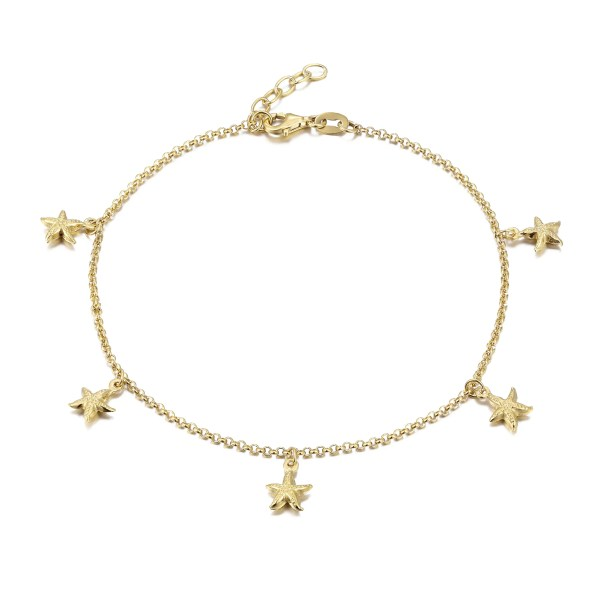 Starfish Charm Anklet Seol Gold