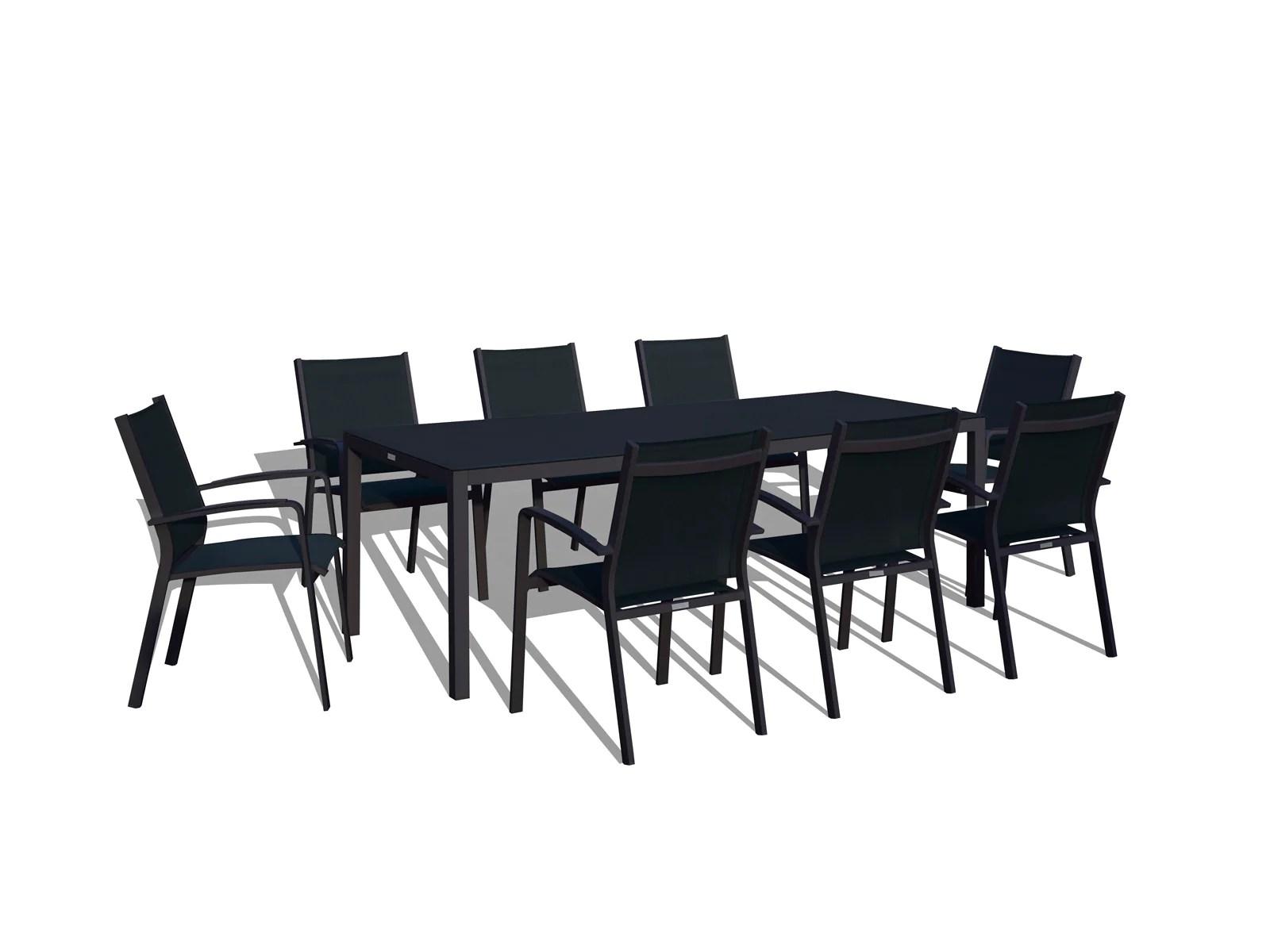 9 piece modern patio dining set black on black sold out www urbanfurnishing net